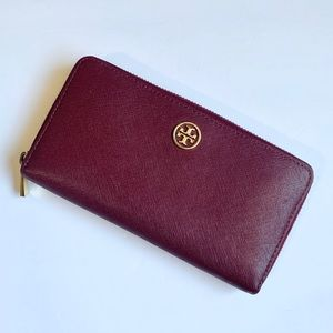 Tory Burch burgundy wallet